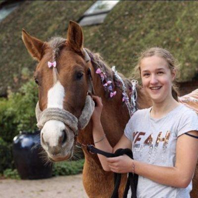 Rosé tijdens ponykamp